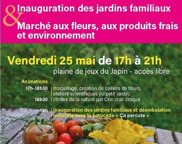 25 mai 2018 – Gières – Inauguration des jardins familiaux et marché aux fleurs